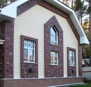 Облицовка фасадов зданий сайдингом и кирпичом. - foto 0
