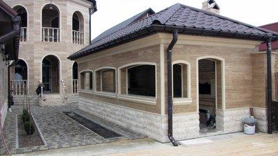 Облицовка фасадов травертином,  гранитом,  мрамором УютСтройКараганда - main